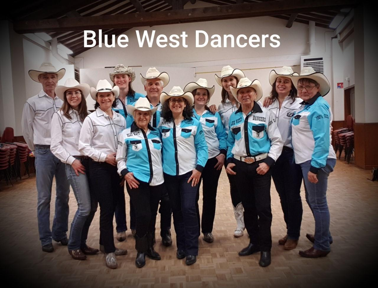 Blue west dancers team